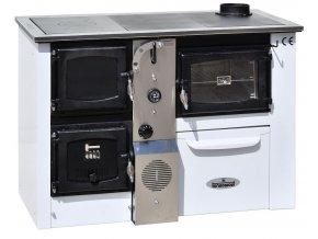 TEMY PLUS P25 PRAVÝ BÍLÝ teplovodní sporák - interiérový kotel, teplovodní výkon 17kW