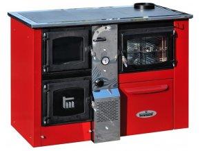 TEMY PLUS P25 PRAVÝ ČERVENÝ teplovodní sporák - interiérový kotel, teplovodní výkon 17kW