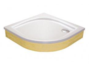 RAVAK ELIPSO 100EX čtvrtkruhová sprchová vanička 100/100cm, akrylát