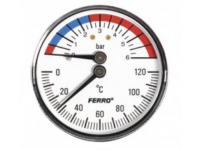 "ARM MT 15-6Z termomanometr 1/2"", 6 bar"