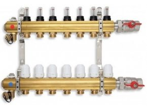 PODL rozdělovač podlahového topení pro 7 okruhů