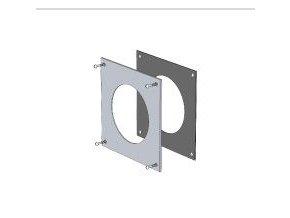 KOUŘ B52100062 nerezová krycí deska přechodu do zdi 128mm pro odvod spalin kondenzačních kotlů