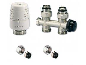 IVAR KIT50082315 přímý set pro připojení žebříků a radiátorů se středovým připojením na potrubí Cu 15mm
