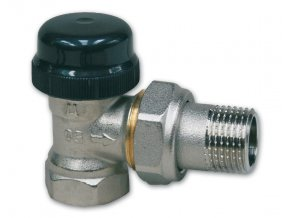 """IVAR 500513 radiátorový ventil rohový 1/2"""" s přednastavením"""