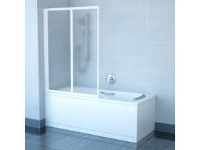 RAVAK VS2 105 BÍLÁ RAIN dvoudílná skládací sprchová zástěna 105cm na vanu