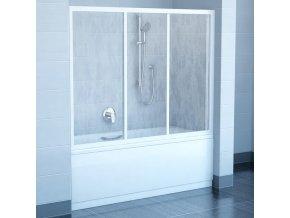 RAVAK AVDP3-120 BÍLÁ TRANSPARENT posuvná sprchová zástěna 117-121cm na vanu