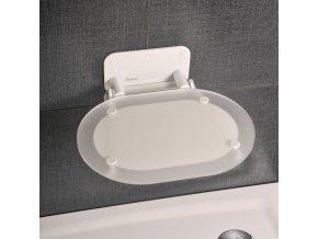 RAVAK OVO CHROME BÍLÉ sprchové sedátko s bílou konstrukcí - KONCEPT CHROME