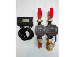 BM SET 0020210 set regulátoru ARM TH11Z a 2x sestavy s oběhovým čerpadlem Grundfos Alpha 1L 25-40