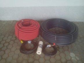 BM SET 0030121 set potrubí 32mm a vodičů z rodinného domu do studny či vrtu