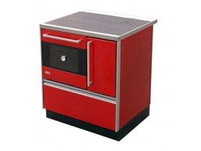 MBS Royal 720 Plus Eco 12021367 kuchyňský sporák s troubou, levý červený