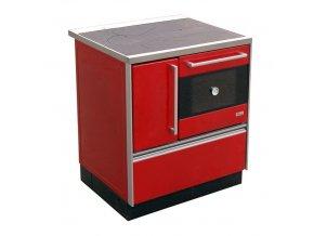 MBS Royal 720 Plus Eco 12021368 kuchyňský sporák s troubou, pravý červený