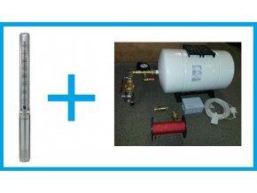 BM SET 0030116 set čerpadla Grundfos SP2A-40 a příslušenství. Pro vrty hluboké max. 120m.