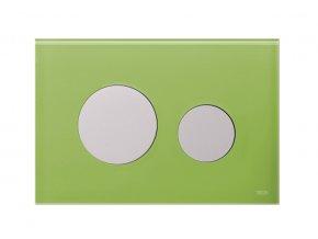TECEloop 9.240.653 ovládací tlačítko, deska zelené sklo, tlačítka lesklý chrom