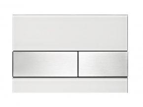 TECEsquare 9.240.801 ovládací tlačítko, bílá deska, tlačítka kartáčovaná nerez