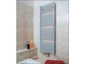 KLCM 700.600 koupelnový žebřík 70/60 cm bílý, rovný, středové připojení