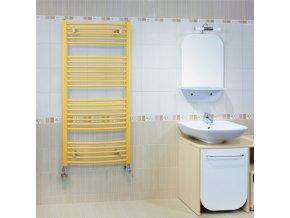 KRC 900.750 koupelnový žebřík 90/75 cm bílý, prohnutý