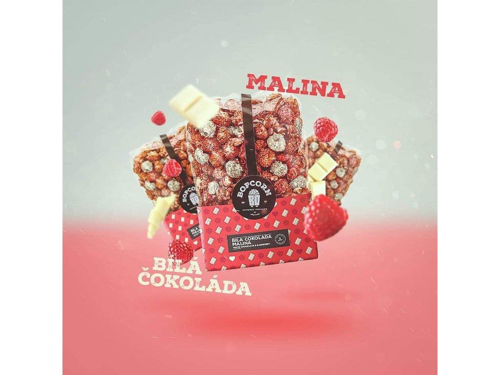 Malina s bílou čokoládou
