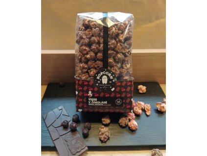 Popcorn Višně v čokoládě