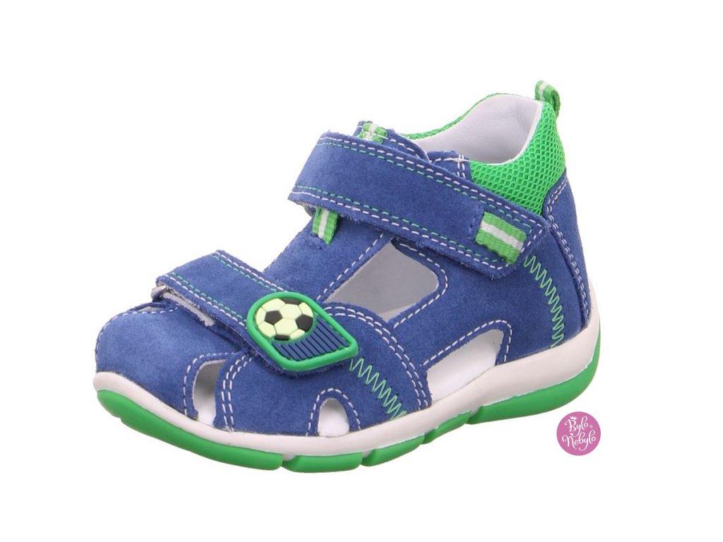 Dětské letní sandálky Freddy 6-00144-80 Modrá - SUPERFIT