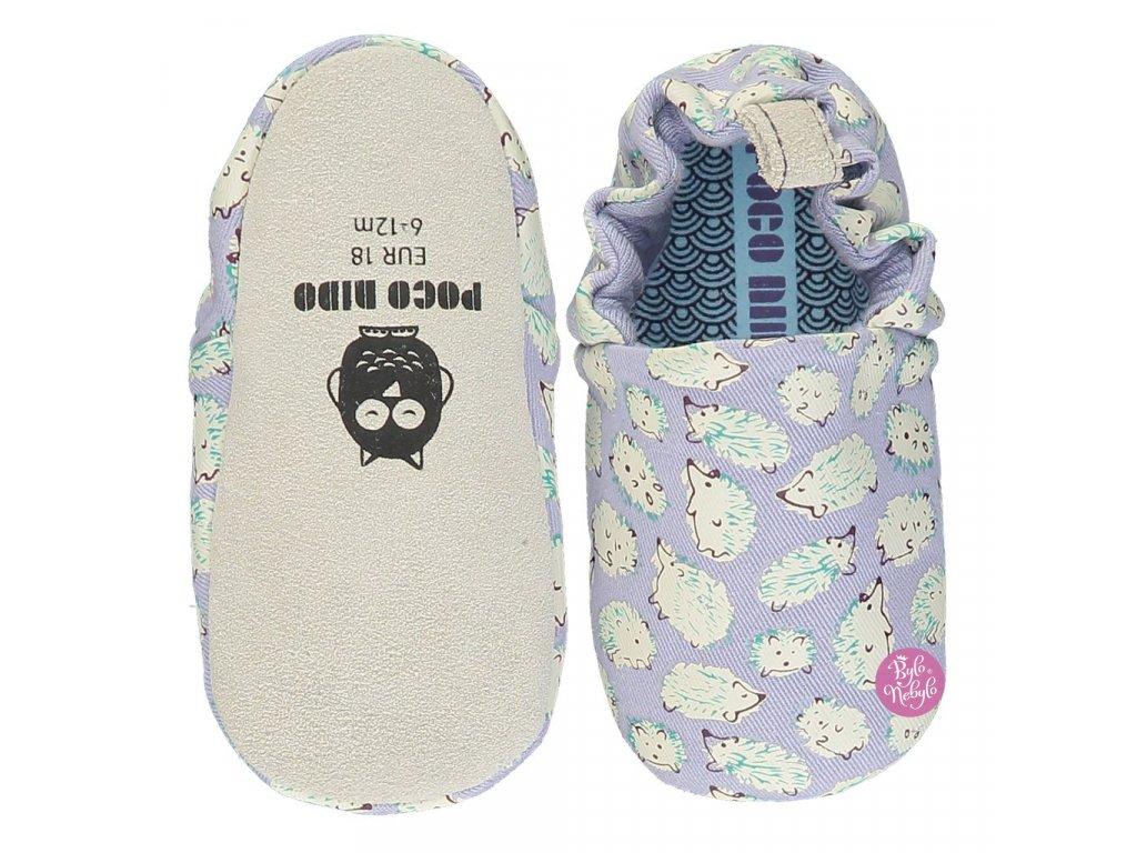 Hedgehog Purple Top Sole SS20 Mini Shoes 1024x1024