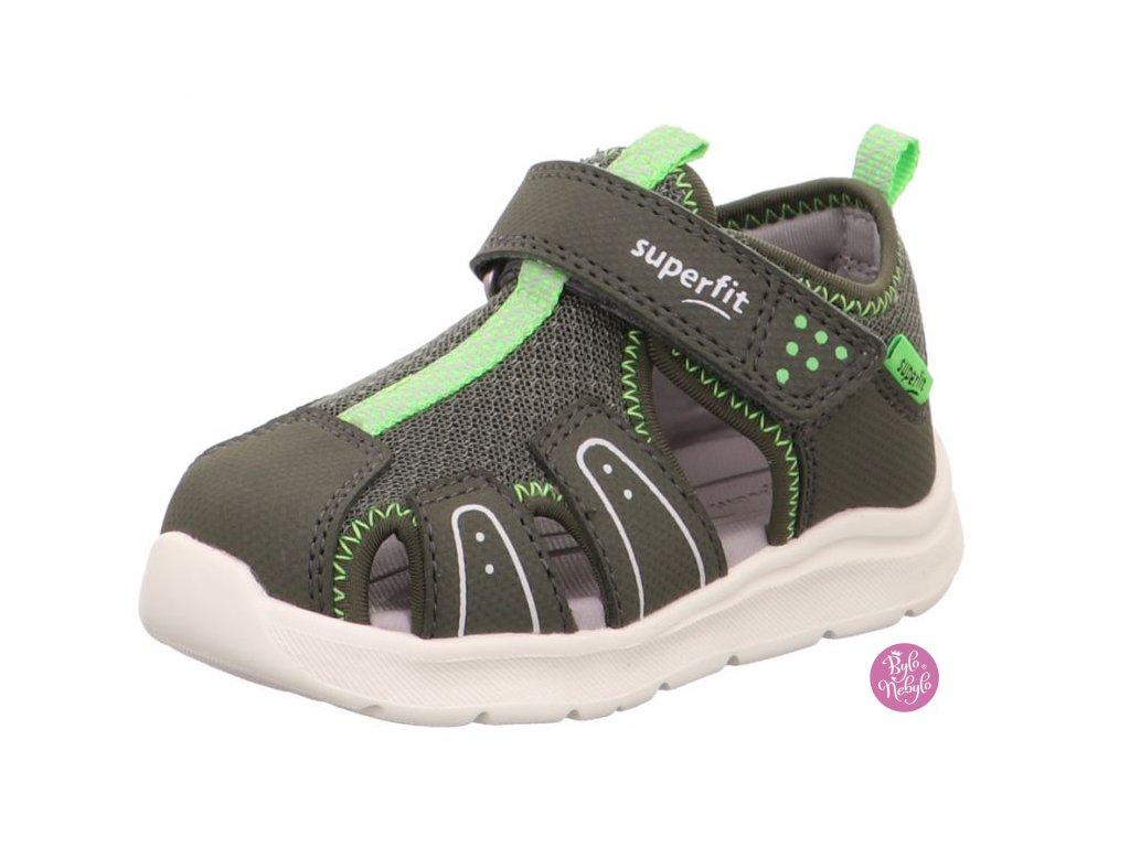 Dětské sandály Superfit Wave 1-000478-70 Zelená