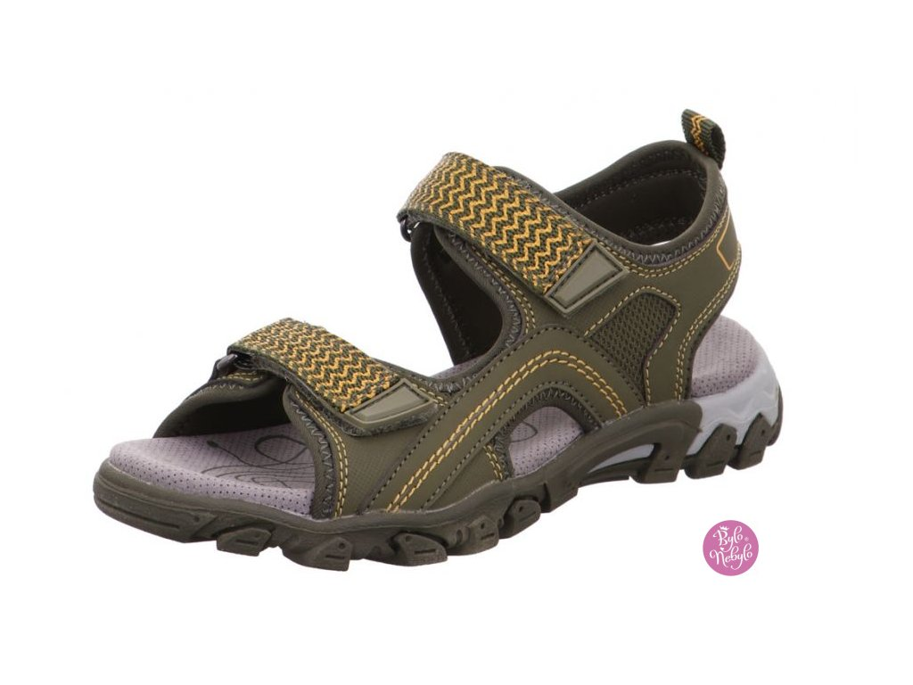 Dětské sandály Superfit 1-600451-70 HIKE Khaki Zelená
