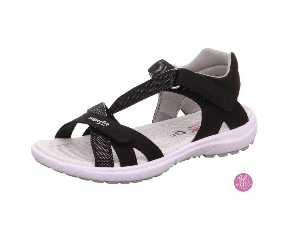 Sandály Superfit Rainbow 0-609203-00 Černá