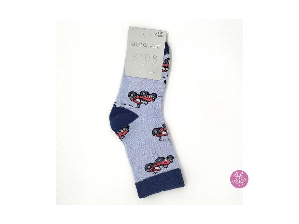 Dětské obrázkové ponožky Aura.Via Autíčko (85% bavlna)
