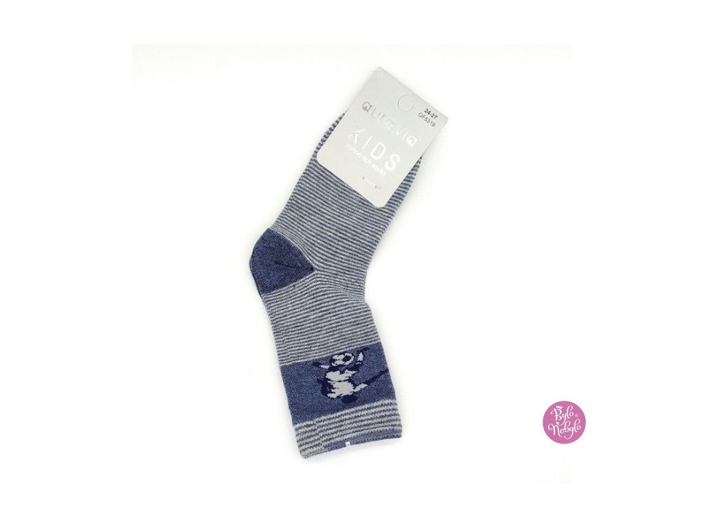 Dětské obrázkové ponožky Aura.Via Futbalista (85% bavlna)