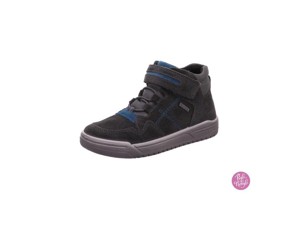 Celoroční kotníková dětská obuv Superfit 1-009059-2000 s GORE-TEX membránou - Šedá