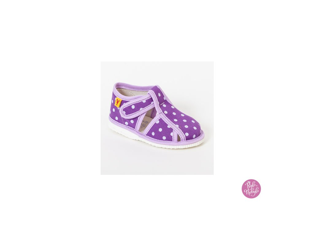fab4a7850 detska obuv papuce fialova bodka 324.thumb 409x369