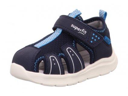 Dětské sandály Superfit Wave 1-000478-80 Modrá