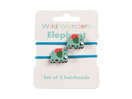 29171 wild wonders elephant set 2 hairbands recovered
