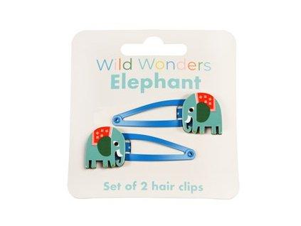29174 wild wonders elephant set 2 hair clips
