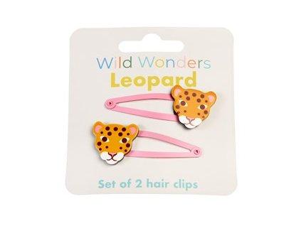 29173 wild wonders leopard set 2 hair clips