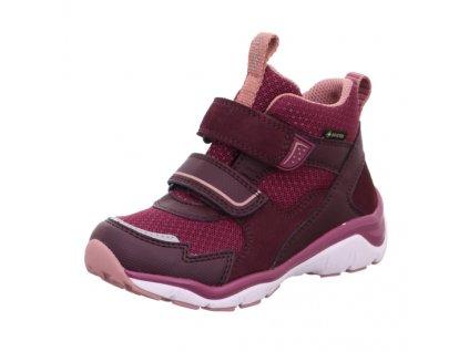 Dětské celoroční sportovní boty Superfit SPORT5 1-000246-5000 s membránou GORE-TEX / Fialová