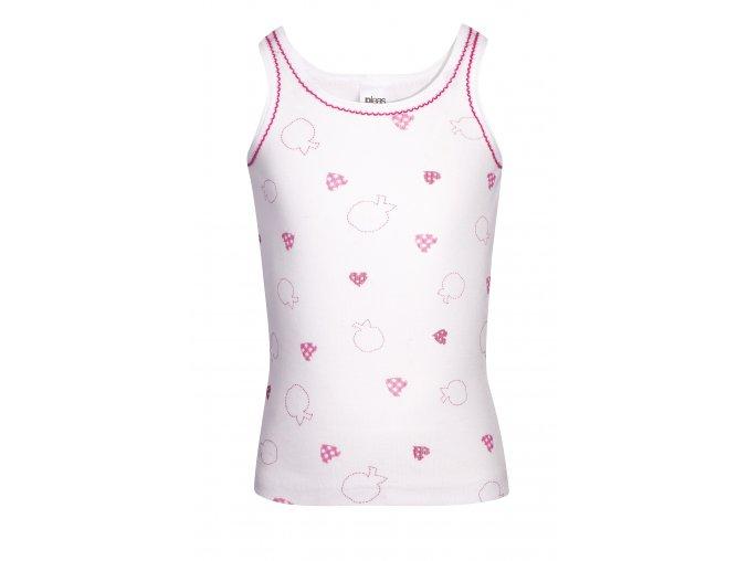 Dívčí košilka se širokým ramínkem | Pleas | Bílá se vzorem |