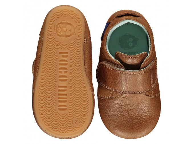 VELCRO STRAP PLAIN TAN TB LEATHER SHOES MIGHTY SS19 1024x1024