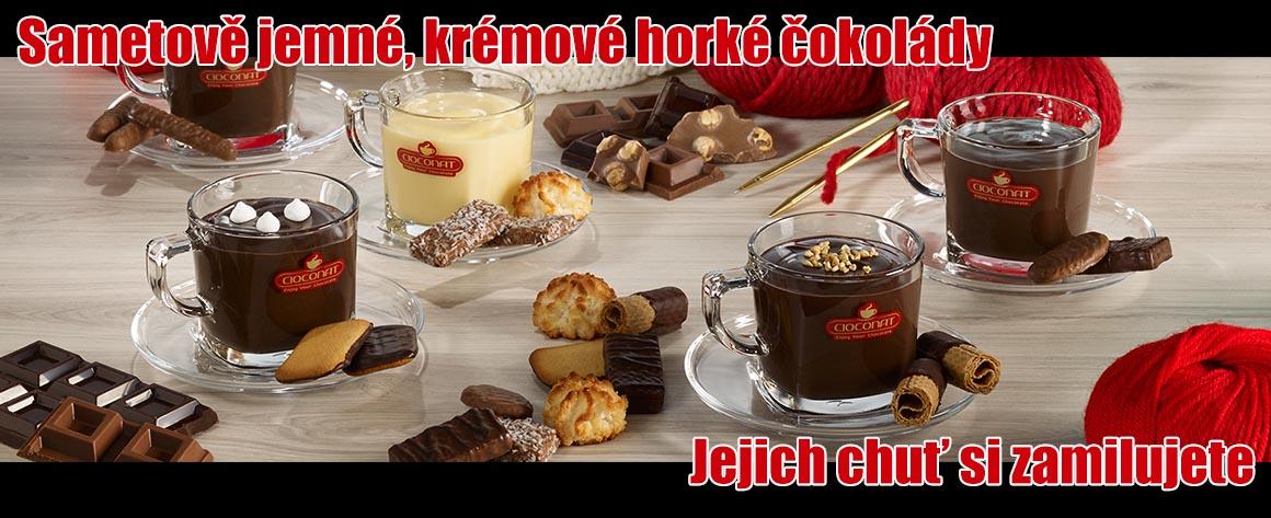 horké čokolády cioconat