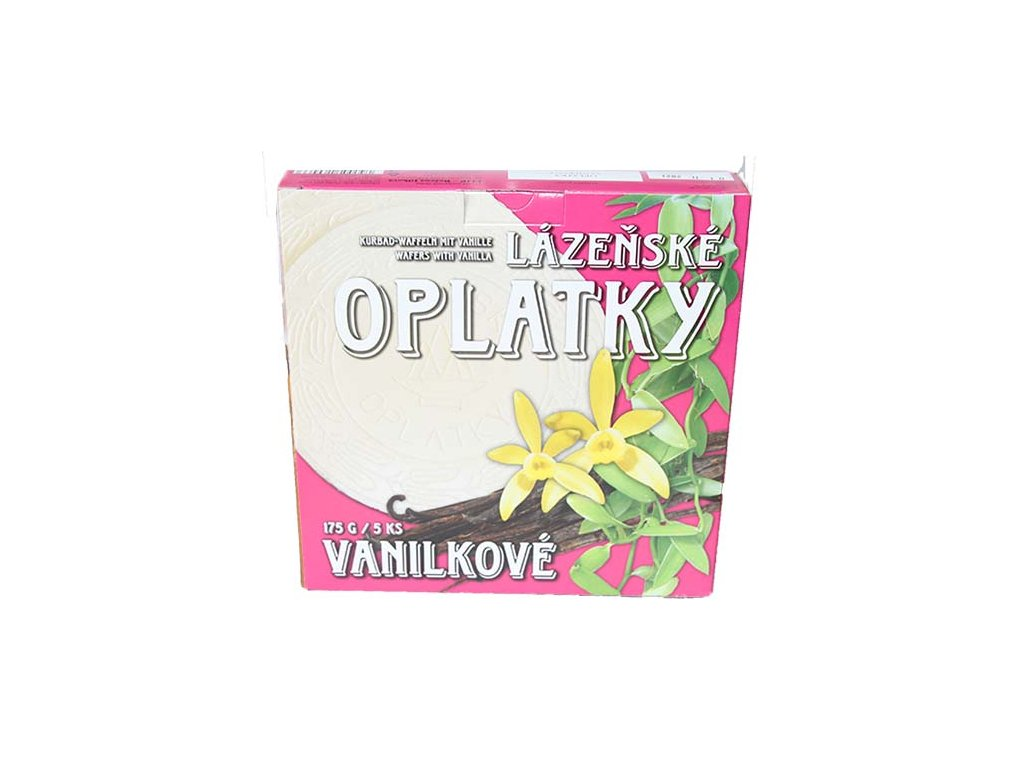 oplatky vanilka bez