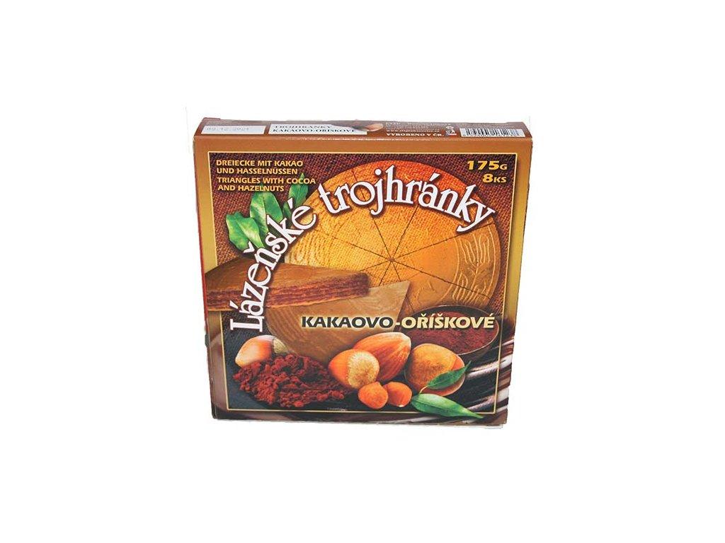 13 lazenske trojhranky kakao orisek