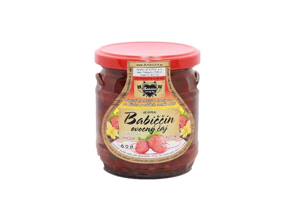 Babiččin ovocný čaj - Jahoda s vanilkou, 420ml