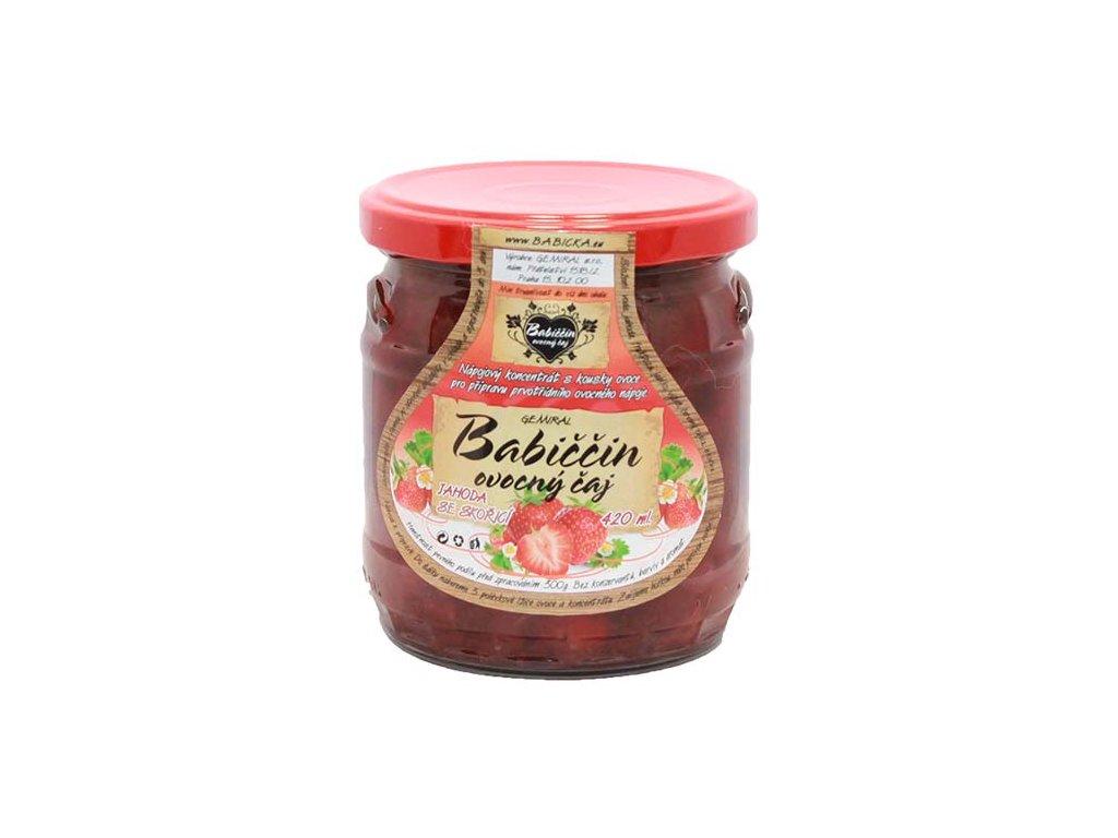Babiččin ovocný čaj - Jahoda se skořicí, 420ml