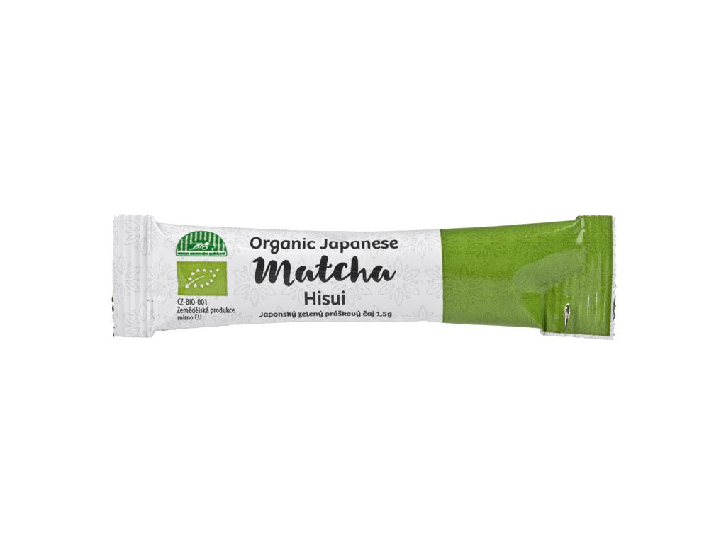 Práškový zelený čaj Matcha Hisui BIO, 1,5g