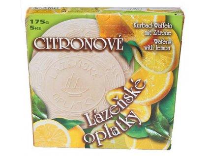 oplatky citron