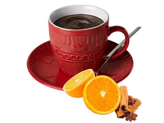 Horká čokoláda Cioconat - Pomeranč a skořice, 28g