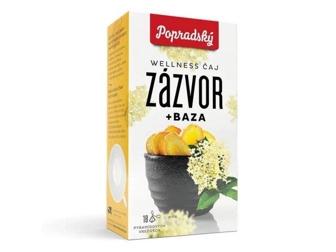 Popradský wellness čaj - Zázvor a Černý bez