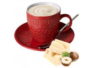 Horká čokoláda Cioconat - Bílá s oříšky, 28g