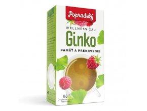Popradský wellness čaj - Ginko - paměť a prokrvení
