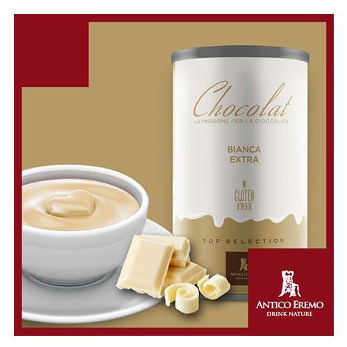 Horká čokoláda Antico Eremo - Dárkové balení Bílá 750g
